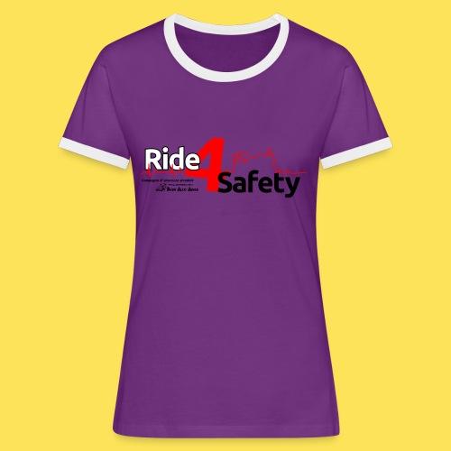 Ride4Safety - Maglietta Contrast da donna