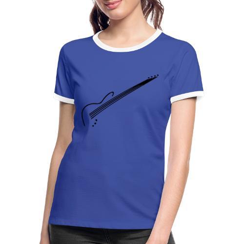 E-Bass - Frauen Kontrast-T-Shirt