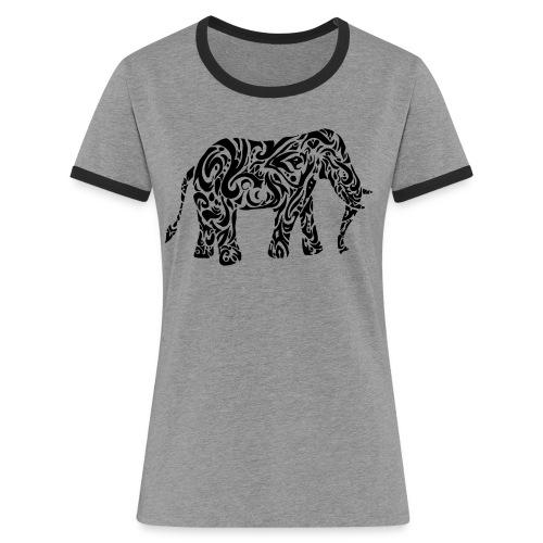 Tribal Eléphant - T-shirt contrasté Femme