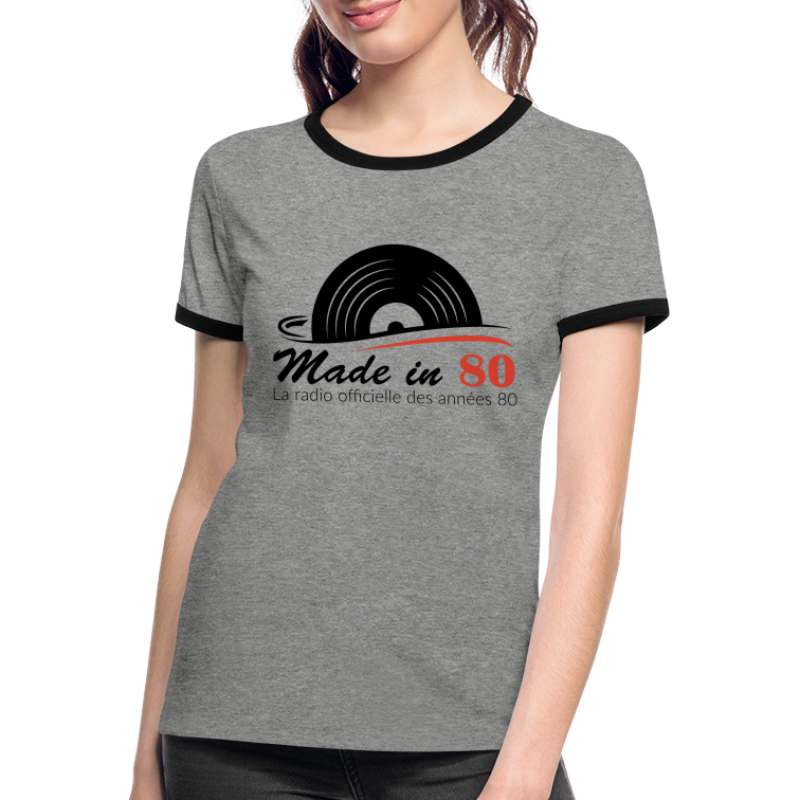 Made in 80 - T-shirt contrasté Femme