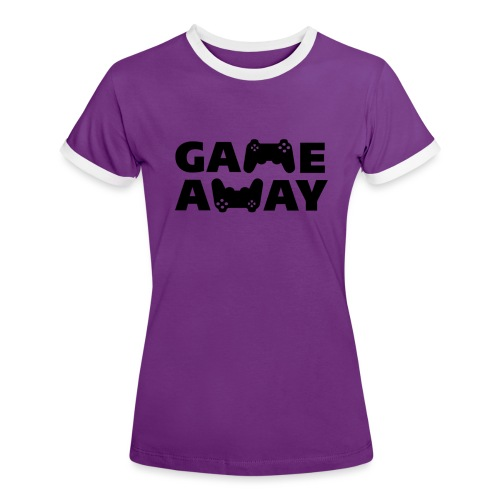 game away - Vrouwen contrastshirt