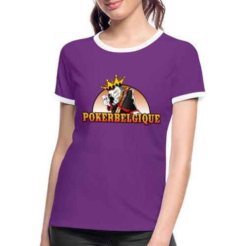 Logo Poker Belgique - T-shirt contrasté Femme