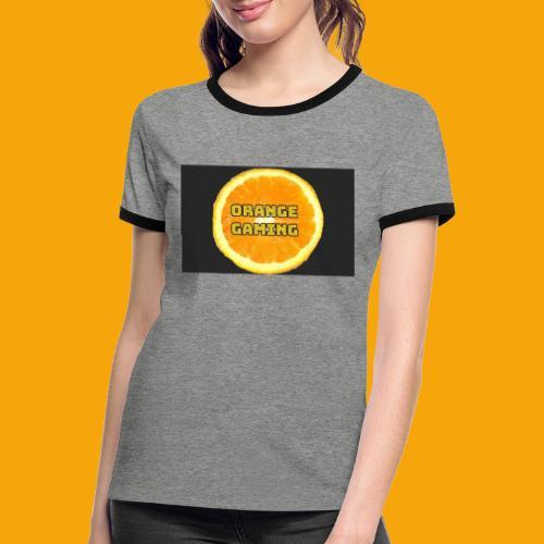Orange_Logo_Black - Women's Ringer T-Shirt