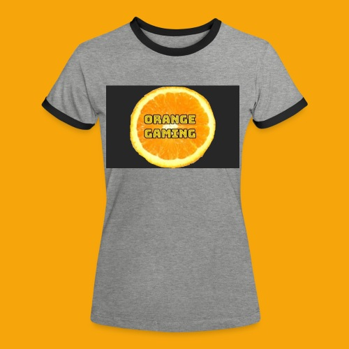Orange_Logo_Black - Women's Ringer T-Shirt