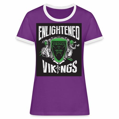 Enlightend Vikings - Kontrast-T-skjorte for kvinner