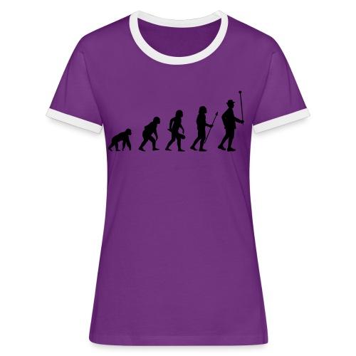 Stabführer Evolution - Frauen Kontrast-T-Shirt