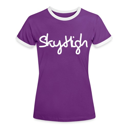 SkyHigh - Women's Hoodie - White Lettering - Women's Ringer T-Shirt