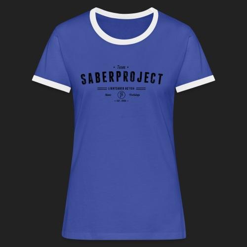 Vintage Lightsaber Action - Frauen Kontrast-T-Shirt