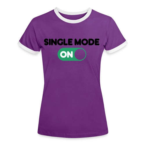 single mode ON - Maglietta Contrast da donna