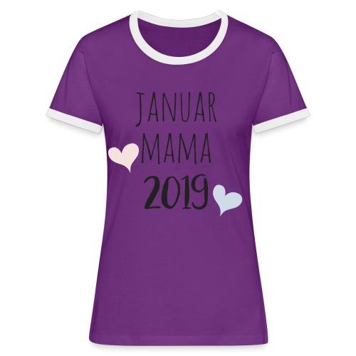 Januar Mama 2019 - Frauen Kontrast-T-Shirt