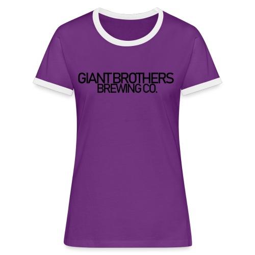 Giant Brothers Brewing co SVART - Kontrast-T-shirt dam