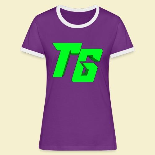 TristanGames logo merchandise [GROOT LOGO] - Vrouwen contrastshirt