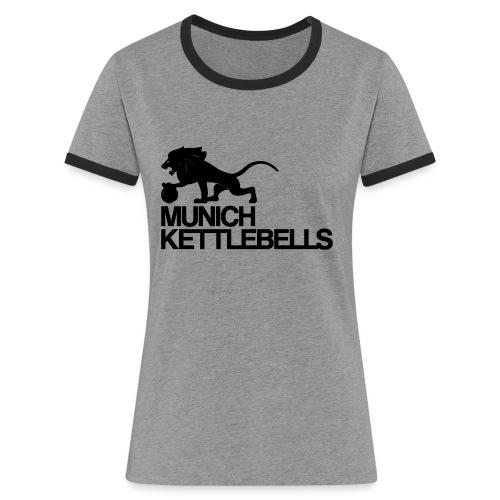 Logo MKBblack png - Frauen Kontrast-T-Shirt