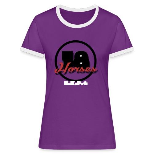 18 Horses - NKPG (White) - Kontrast-T-shirt dam