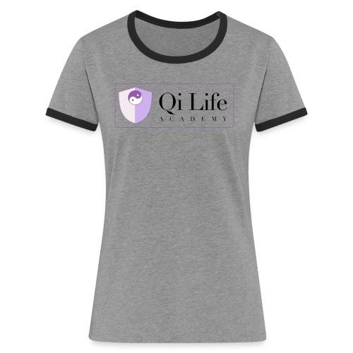 Qi Life Academy Promo Gear - Women's Ringer T-Shirt