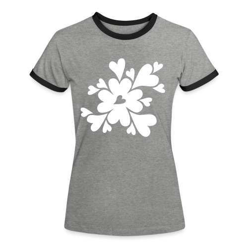 HJÄRTAN - Kontrast-T-shirt dam
