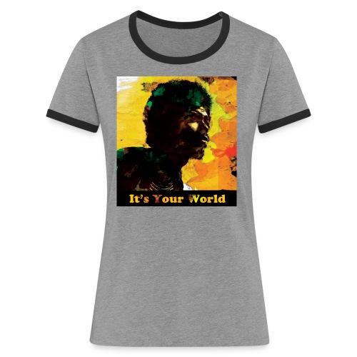 Gil Scott Heron It s Your World - Women's Ringer T-Shirt