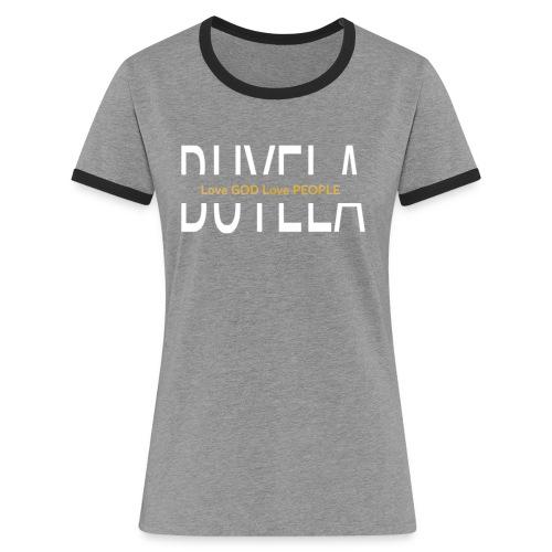 Love God middle B - Frauen Kontrast-T-Shirt