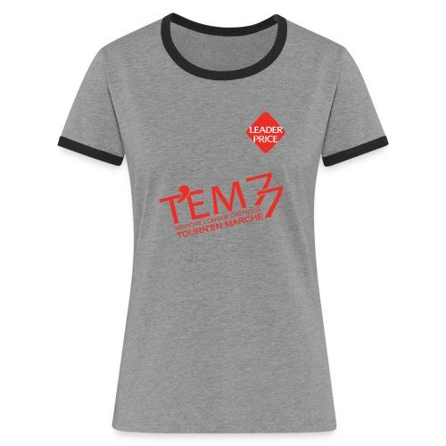 logoTEM77_def_rouge_lp - T-shirt contrasté Femme