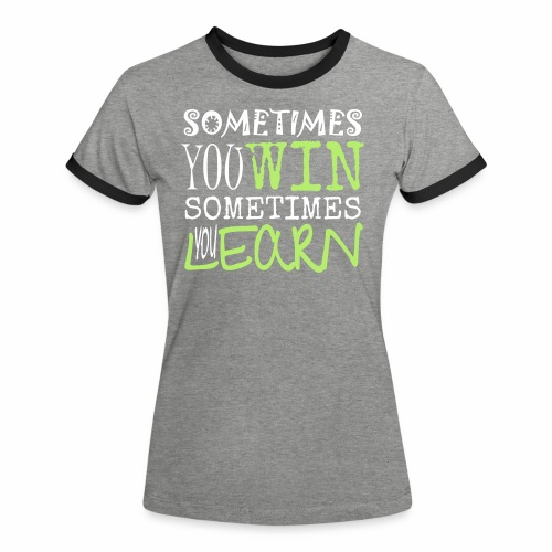 SOMETIMES - Frauen Kontrast-T-Shirt