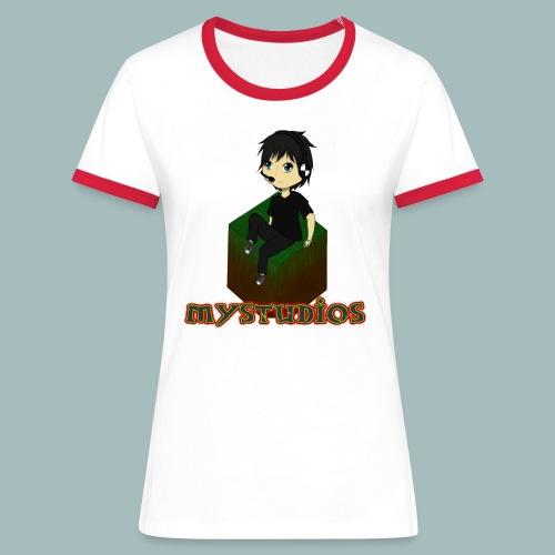 Mystudios Stylo - Frauen Kontrast-T-Shirt