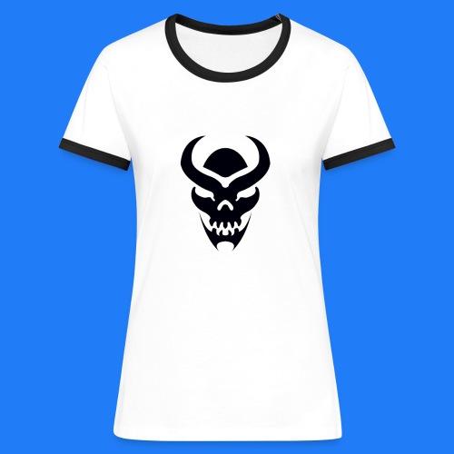 TRIBAL SKULL NOIR - T-shirt contrasté Femme