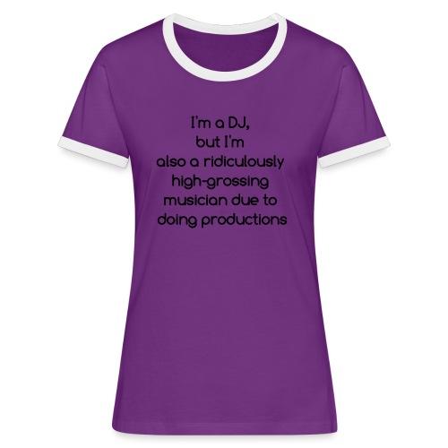 IM A DJ! - Vrouwen contrastshirt