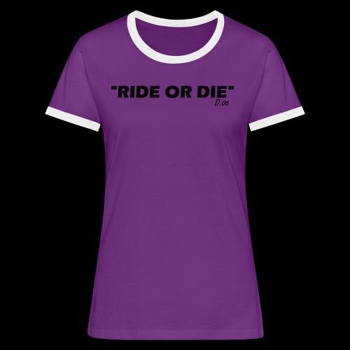 Ride or die (noir) - T-shirt contrasté Femme