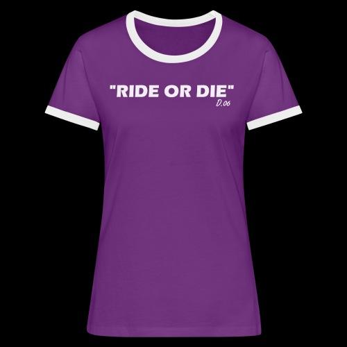 Ride or die (blanc) - T-shirt contrasté Femme