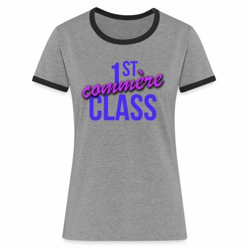 First Commère Class - T-shirt contrasté Femme