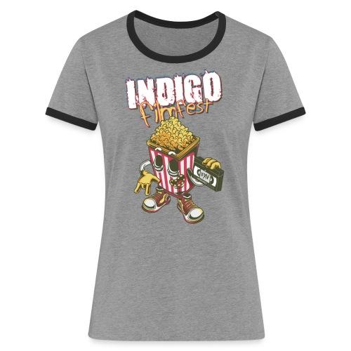 IFXV - INDIGO filmfest 15 - Popcorn - Frauen Kontrast-T-Shirt
