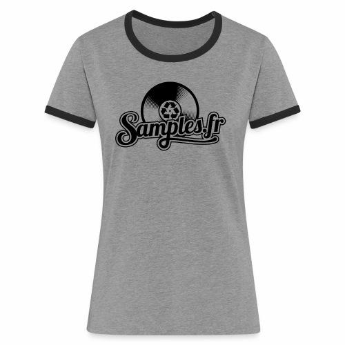 Gris / Noir (H / F) - T-shirt contrasté Femme