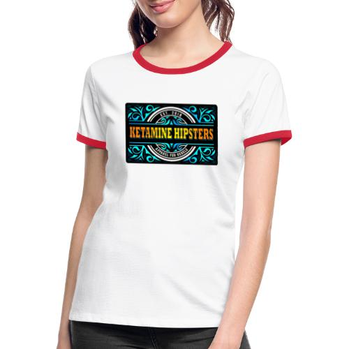 Black Vintage - KETAMINE HIPSTERS Apparel - Women's Ringer T-Shirt