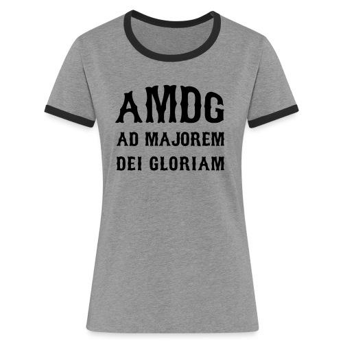 AMDG - Women's Ringer T-Shirt