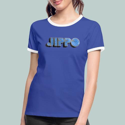 JIPPO LOGO (blue) - Naisten kontrastipaita