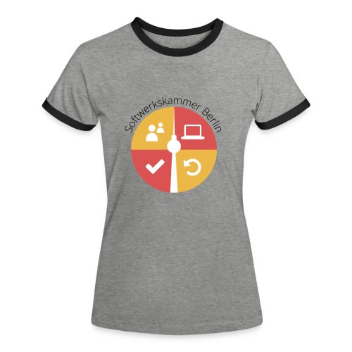 swk logo normal png - Women's Ringer T-Shirt