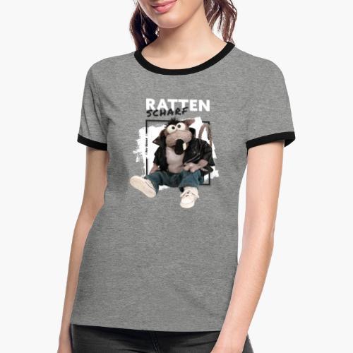 Rolf Rüdiger Rattenscharf - Frauen Kontrast-T-Shirt