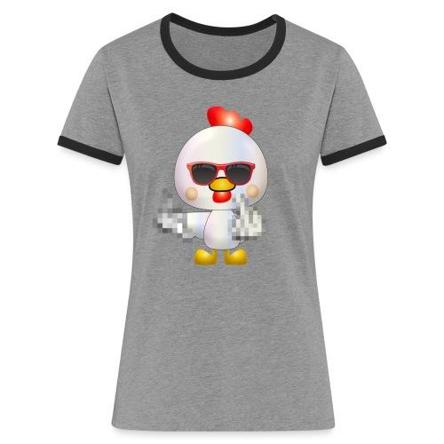 Poule F*** - T-shirt contrasté Femme