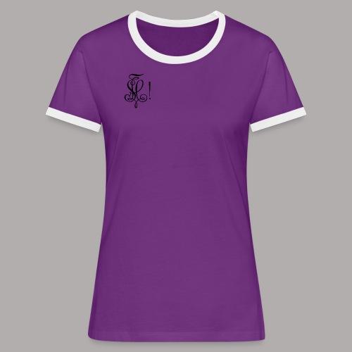Zirkel, schwarz (vorne) - Frauen Kontrast-T-Shirt