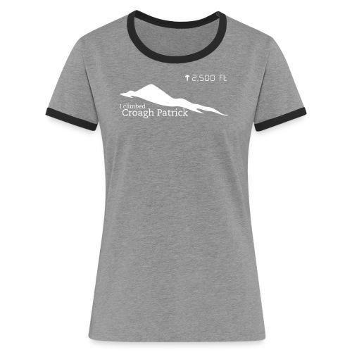 Croagh Patrick (Altitude) - Women's Ringer T-Shirt