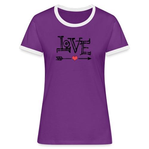 Love flêche - T-shirt contrasté Femme