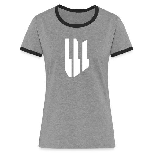 OliverMusik Logo - Frauen Kontrast-T-Shirt