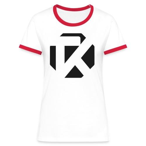 Logo TK Noir - T-shirt contrasté Femme