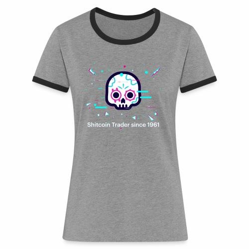 CryptoLoco - Shitcoin Trader - T-shirt contrasté Femme