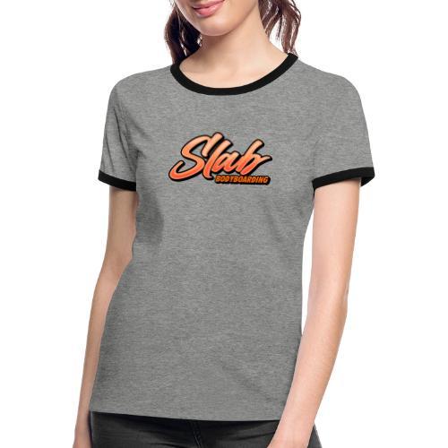 MS Slab Logo - Women's Ringer T-Shirt