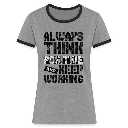 Think Positive - T-shirt contrasté Femme