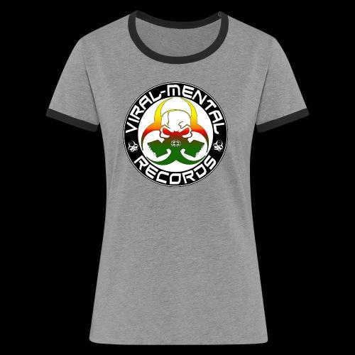 Viral Mental Records Logo - Women's Ringer T-Shirt
