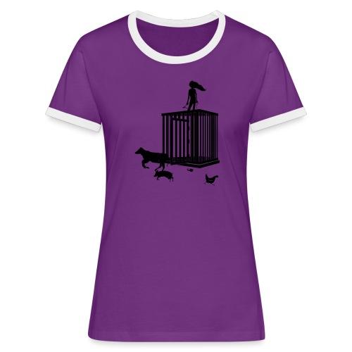 Strong Woman - Dame kontrast-T-shirt