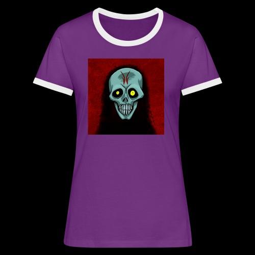 Ghost skull - Women's Ringer T-Shirt