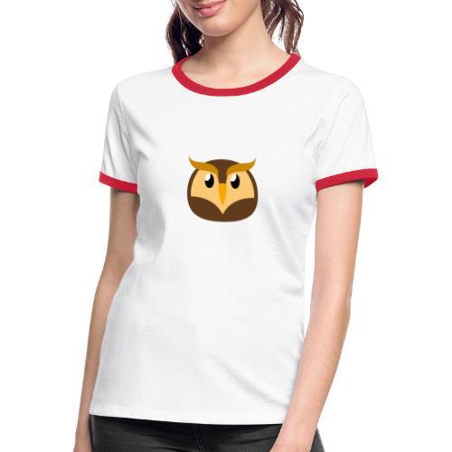 Eule »Schuhu« - Women's Ringer T-Shirt